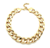 "New Celebrity Style 20mm & 16"" Link Chain w/Extension Fashion Necklace WC1G"