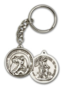 ReligiousObsession's Antique Silver St. Michael the Archangel Keychain