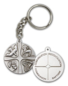 ReligiousObsession's Antique Silver Christian Life Keychain