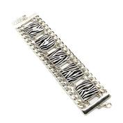 Silver Tiger/zebra Bracelet