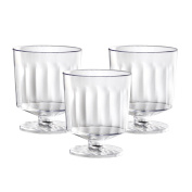 Party Essentials N223021 20 Count 1 Piece Hard Plastic Mini Wine Taster Glasses, 60ml, Clear