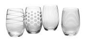 Mikasa Cheers Stemless Wine Glass, 500ml, Set of 4