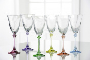 Galway Crystal Liberty Party Pack (Set of 6), Clear/Multicolor