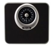Taylor Analogue Bath Scale 140kg. Capacity Solid Steel Base Black