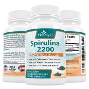 Natrogix Spirulina 2200mg Formula Supplements - Extra Strength Booster