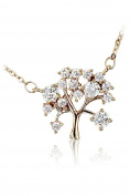 Ocean Fashion Mini crystal tree clavicle necklace