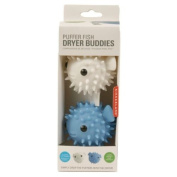 Kikkerland Puffer Fish Dryer Buddies / Balls - Natural Fabric Softener