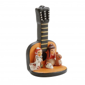 Guitar Theme Ceramic Nativity 'Navidad Hymn Nativity'