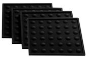 Lamson 07026 Little HotSpot Silicone Coasters (Set of 4), 10cm by 10cm , Black