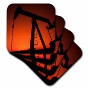 3dRose cst_93395_3 Industry, Oil Rig, Tulsa, Oklahoma US37 BBA0002 Bill Bachmann Ceramic Tile Coasters