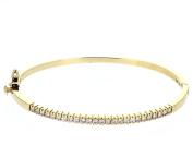 Diamond Bangle, 14kt Yellow Gold Diamond Prong Set Bangle