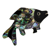 Sterling Silver Abalone Fish Pin