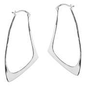 Contempo Shiny Bent V-Lock .925 Sterling Silver Earrings