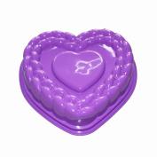 X-Haibei Flexible Large Heart Gelatin Cake Baking Pan Silicone Mousse Mould Party Maker