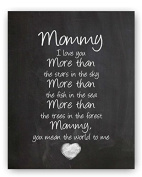 Mommy I Love You Mother's Day Gift For Mom Chalk Sign By meijiafei