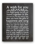 A Wish For You Wedding Blessing Quote Wedding Gift Chalk Sign By meijiafei