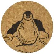 Corkology Penguins Coaster Set, Cork