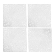 TMD Holdings Hand Drawn Hearts Etched Glass Coasters, Clear, Set of 4
