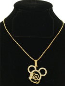 Mickey Pendant with CZ along with FREE 18K BOX CHAIN