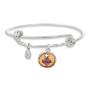 The Adjustable Band Bangle Bracelet featuring the Flash Tattoo Bleeding Heart Cross