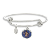 The Adjustable Band Bangle Bracelet featuring the ancient Aquarius astrology sign