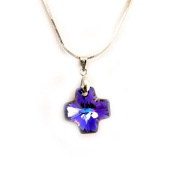 Necklace 'french touch' 'Cristal Croix' blue.