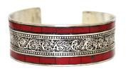 Nepalese Bracelet coral Bracelet Nepal Cuff Bracelet Nepal Bracelet Gypsy Bracelet Tibet Bracelet