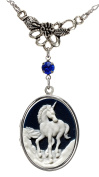 Pure Unicorn Locket Leaf Charm Best Friend Necklace Photo Silver Pendant Fashion Jewellery Pouch for Gift
