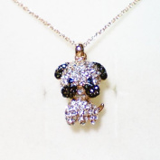 Fashion Jewellery - 18K Rose Gold Plated Dog Necklace