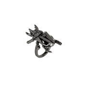 Sterling-Silver Black Rhodium Plated Beetle Ring size 5