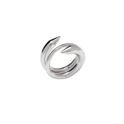 Sterling-Silver Rhodium Plated Anaconda Ring size 7