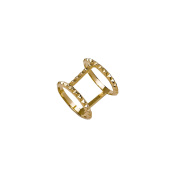 Sterling-Silver 14K Vermeil Plated Rock stud Ring size 7