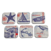 DEMDACO Dockside Coaster Set, Multicoloured