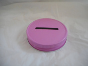 Metal Mason Jar Coin Lid - Pink Single Pack