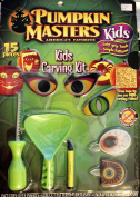 Pumpkin Masters Kids, America's Favourite Pumpkin Carving Kit, Simple Patterns, 15 pieces, 8 eyes inserts