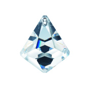 Genuine Crystal 30mm Clear Crystal Cone Ball Prism, Amazing Shine and Brilliance with Certificate