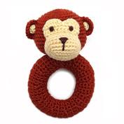 Cheengoo Organic Bamboo Crocheted Monkey Ring Rattle