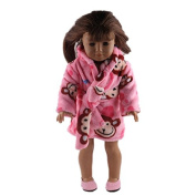 ZWSISU Doll Pyjamas Set Include Doll Shoes Fits 46cm American Girl Doll,Our Generation and Journey Girls Dolls