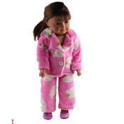 ZWSISU Doll Pyjamas Set Include Doll T-shirt Vest Shorts Fits 46cm American Girl Doll,Our Generation and Journey Girls Dolls