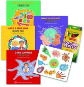 Enjoy Your Cells Series Coloring Books, 4-Book Gift Set