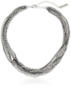 Steve Madden 2 Tone Multi Row Knotted Necklace