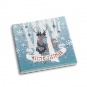 DEMDACO Merry Christmas Coaster and Greeting Card, Multicolor