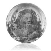 Wendell August Forge Coaster, Lion and Lamb