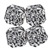 DENY Designs Gneural Triad Illusion Grey Coasters, Set of 4