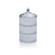 Mikasa 5174357 3 Tier Stacked Box Celebrations By 3 Tier Stacked Crystal Box,