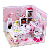 Tinksky DIY Wooden Dollhouse Miniature Kit Kids Toy Decoration Artwork Gift Christmas Gift Birthday Gift