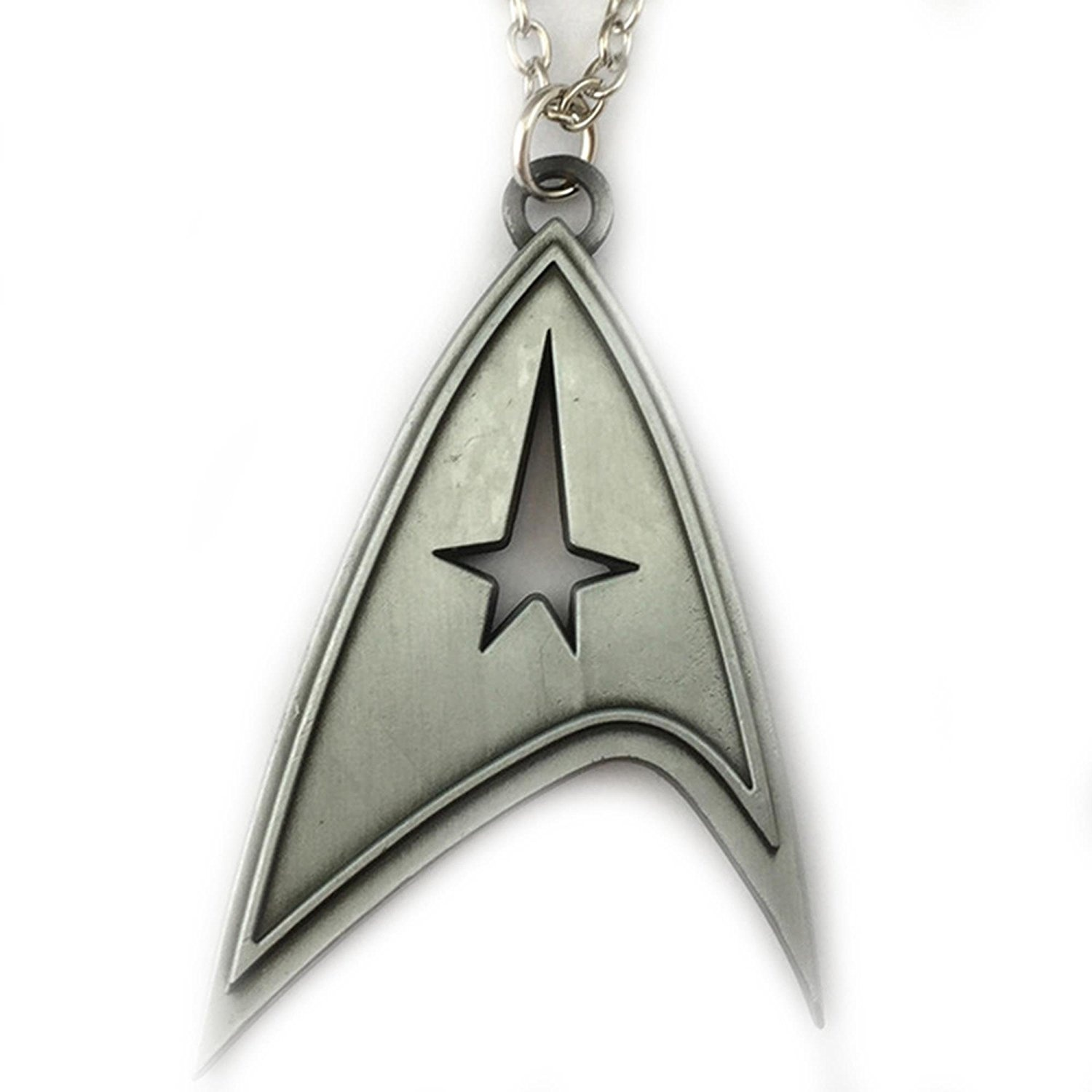 Star Trek Brushed Metal Logo 46cm Necklace In Gift Box By Superheroes