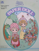 Golden PRECIOUS MOMENTS PAPER DOLL Book UNCUT w 2 Dolls, 5 Play Pieces & MORE!