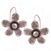 Flower Thailand Earrings Karen Hilltribe Pure Silver