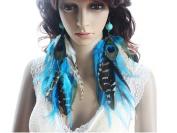Long Feather Earrings for Women Howlite Turquoise Feather Earrings for Women